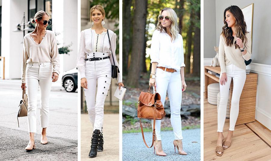 Ένα λευκό παντελόνι σε συνδυασμό με λευκό πουκάμισο ή με γήινες αποχρώσεις είναι κατάλληλο για κάθε περίσταση