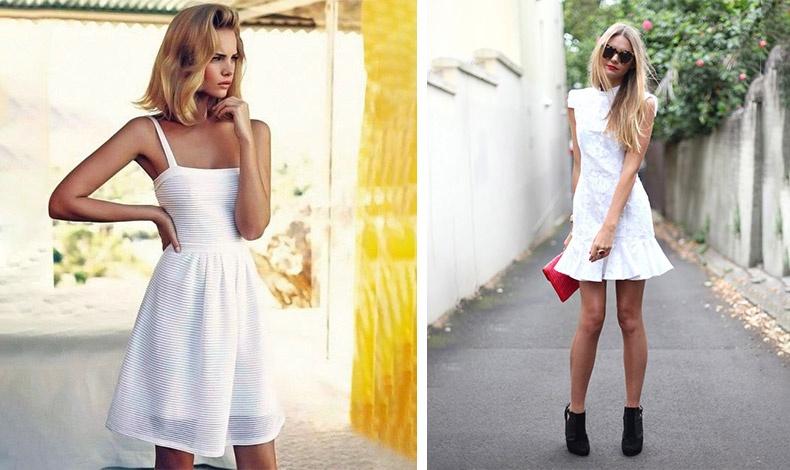 Ένα μίνι λευκό φόρεμα μπορεί να είναι τέλεια επιλογή, αρκεί να σας κολακεύει