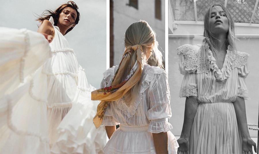 Τα λευκά ρομαντικά φορέματα είναι επίσης μία ωραία καλοκαιρινή εμφάνιση