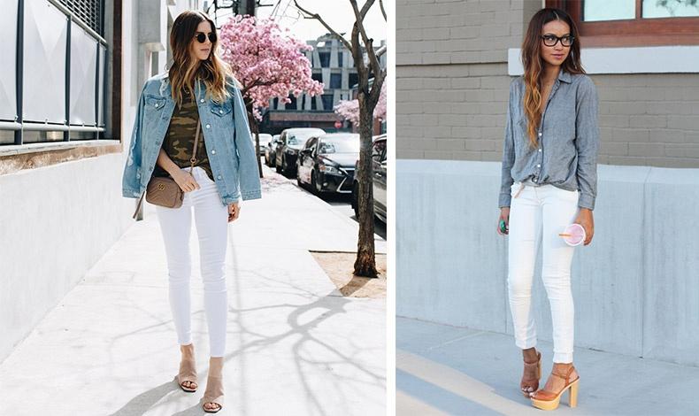 Το κλασικό τζιν σακάκι σας αποδεικνύεται εξαιρετικό και με το λευκό τζιν // Ένα μαλακό τζιν πουκάμισο και ψηλοτάκουνα πέδιλα σας πάνε... και στη βραδινή έξοδο