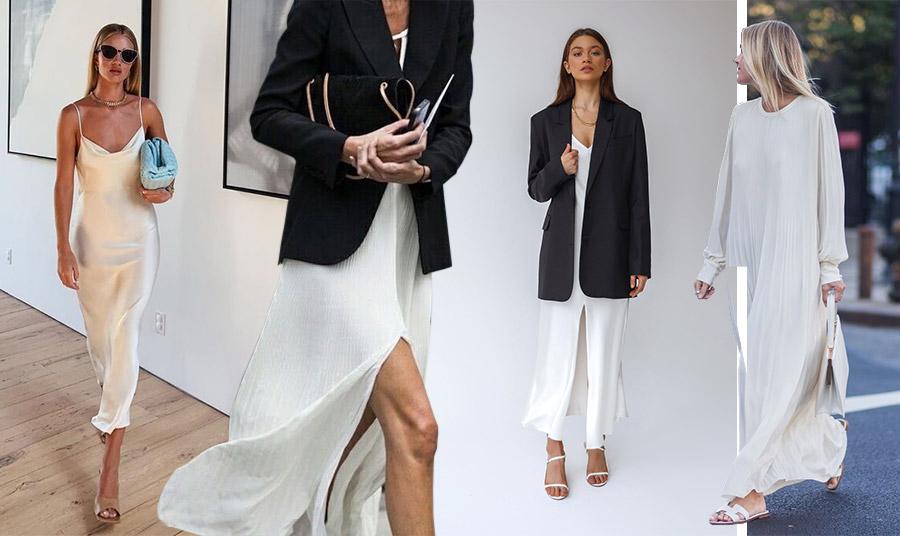 Μία βραδινή εμφάνιση με λευκό φόρεμα είναι αριστοκρατική, σέξι ή απλά κομψή