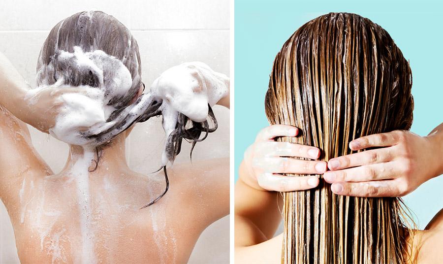 Στο λούσιμο, χρησιμοποιήστε προϊόντα για όγκο, αποφεύγετε να λούζεστε συχνά. Εφαρμόστε το κοντίσιονερ μόνο στις άκρες και όχι στις ρίζες, γιατί προκαλεί γρήγορα λιπαρή υφή και κάνει τα μαλλιά άτονα