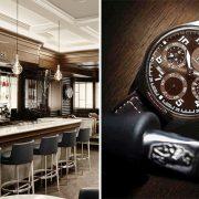 Το μπαρ βρίσκεται ακριβώς δίπλα από την boutique IWC, όπου μπορεί κανείς να θαυμάσει τη συλλογή ρολογιών Pilot