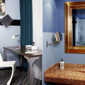 Όταν το ντένιμ «ντύνει» τα δωμάτια και τα μπάνια ενός ξενοδοχείου