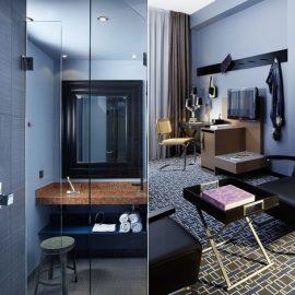 Φουλ του μπλουτζίν στο μπάνιο και το δωμάτιο