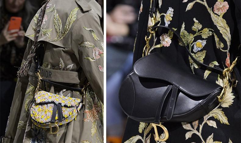 """Από την κολεξιόν φθινόπωρο/χειμώνας 2018-19 του οίκου Dior, με την αναβίωση της """"Saddle"""", από πάτσουγορκ μέχρι κλασική μαύρη δερμάτινη"""