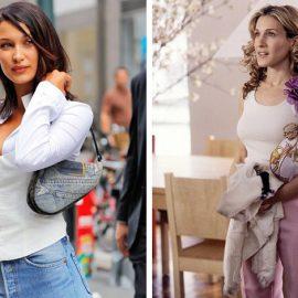 """Η Μπέλα Χαντίντ στο σήμερα και η Σάρα Τζέσικα Πάρκερ πριν είκοσι χρόνια… η τσάντα """"Saddle"""" του Dior είναι απλώς θέμα στιλ"""