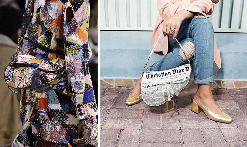 """Ο οίκος Dior παρουσίασε την αγαπημένη και best seller τσάντα """"Saddle"""" σε μια πληθώρα διαφορετικών στιλ"""