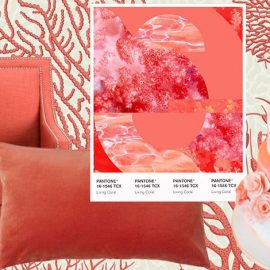 Βάλτε το χρώμα της χρονιάς στο σπίτι σας, επιλέγοντας μία ταπετσαρία με θέμα τα κοράλλια ή την ταπετσαρία μίας πολυθρόνας ή ένα διακοσμητικό μαξιλάρι. Ακόμη και οι γαμήλιες τούρτες για τους επόμενους γάμους προτείνονται στο συγκεκριμένο χρώμα!