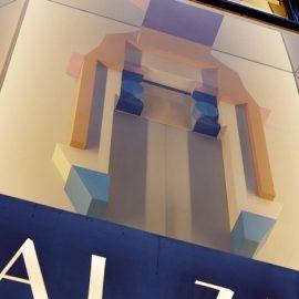Το έργο της Amba Sayal Bennett κοσμεί την πρόσοψη της νέας μπουτίκ Pal Zileri