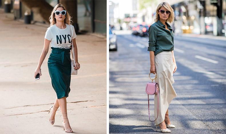 Οι ψηλόμεσες και οι ασύμμετρες μήκους φούστες είναι της μόδας