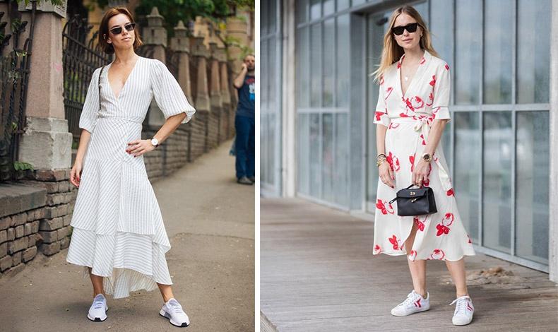 Δώστε μοντέρνο αέρα σε ένα απλό καλοκαιρινό φόρεμα συνδυάζοντάς το με τα sneakers σας. Για σπορ και άνετη εμφάνιση με στιλ