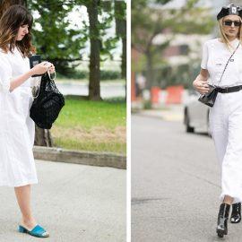 Ένα λευκό σύνολο είναι άκρως καλοκαιρινό. Φορέστε π.χ. με ένα τζιν λευκό παντελόνι μαύρα στρατιωτικά μποτάκια ή συνδυάστε παπούτσια με έντονο χρώμα