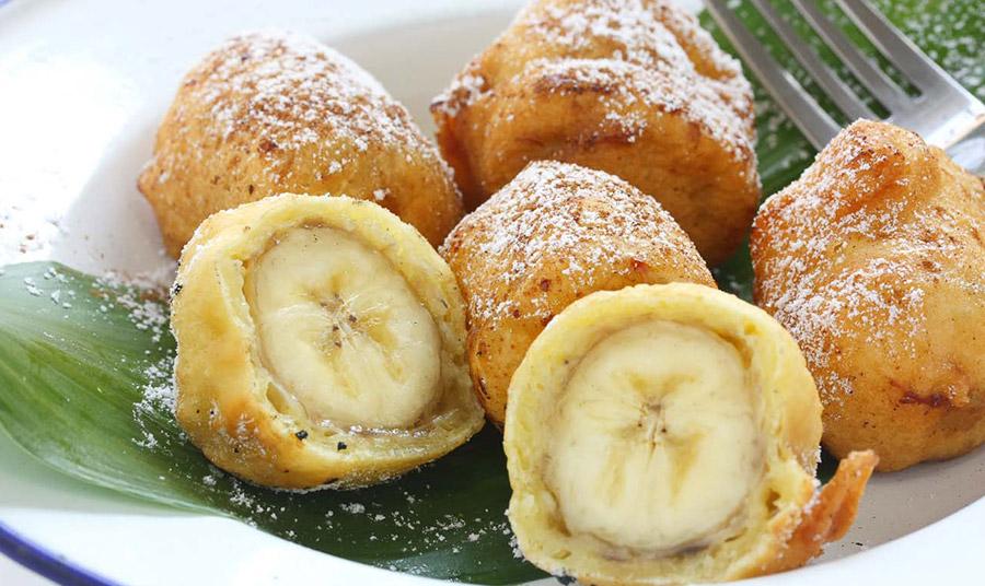 Λουκουμάδες με μπανάνα