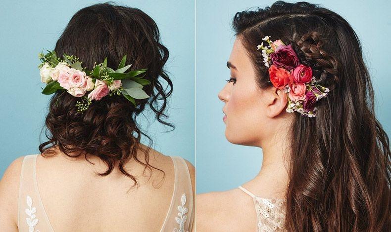 Χτενάκια διακοσμημένα με μικρά ή μεγαλύτερα λουλούδια, για όσες αναζητάμε μια ρομαντική νότα στο χτένισμα του γάμου μας, αυτή είναι η ιδανική πρόταση