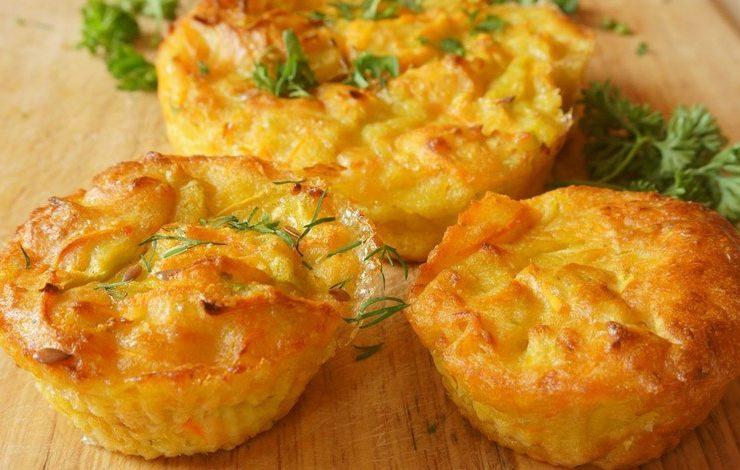 Μάφιν με ζαμπόν και τυρί
