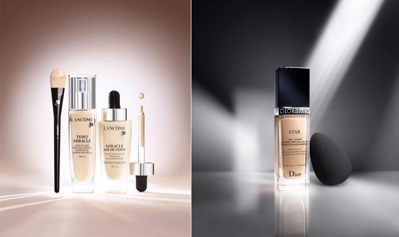 H νέα γενιά φυσικού μακιγιάζ, καλύπτει ατέλειες, έχει διάρκεια και ενυδατώνει, Miracle Air Teint Foundation,  Lanc?me // Ελαφρύ, με συμπυκνωμένες χρωστικές για λάμψη στο μακιγιάζ, DiorSkin Star, Dior