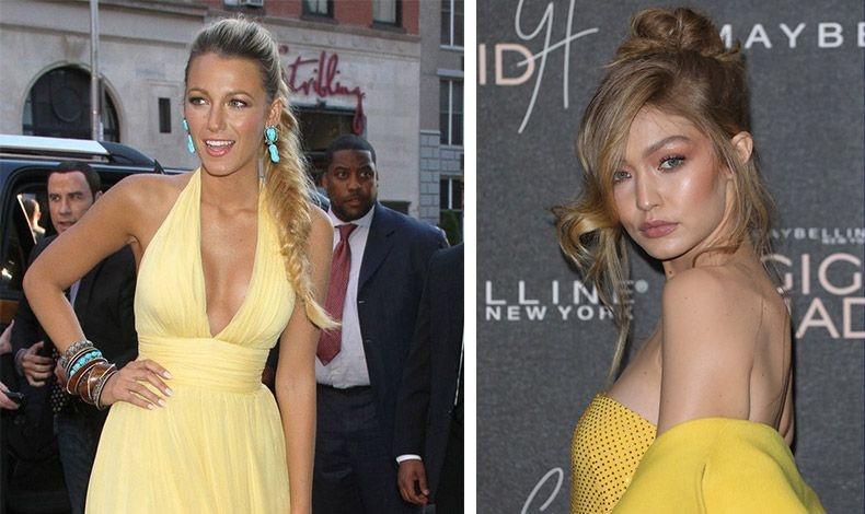 Μπρονζέ για τονισμένα ζυγωματικά και ουδέτερα χείλη για την Blake Lively και την Gigi Hadid