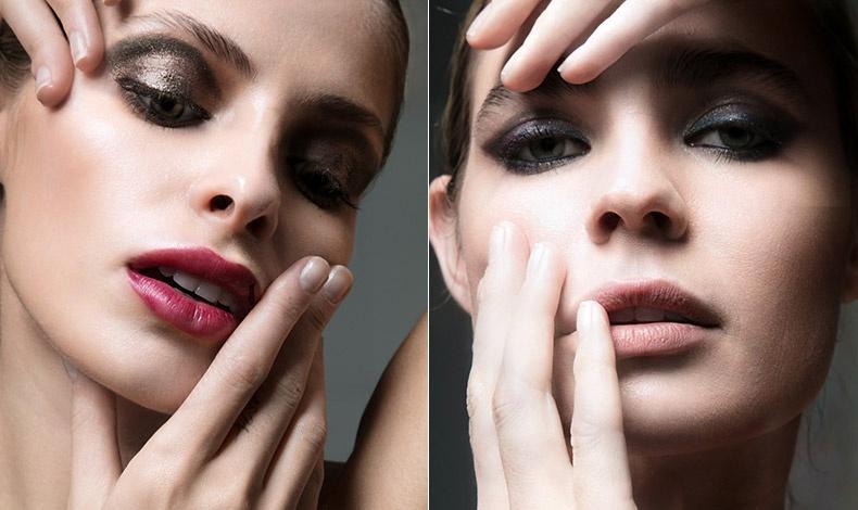 Η πιο σύγχρονη απόδοση των 80s θέλει τη λαμπερή της πινελιά! Ηighlighter και λαμπερές σκιές σε συνδυασμό με ένα σκούρο ροζ στα χείλη ολοκληρώνουν το λουκ // Τα πολύ σκούρα μάτια απαιτούν ουδέτερα χείλη!