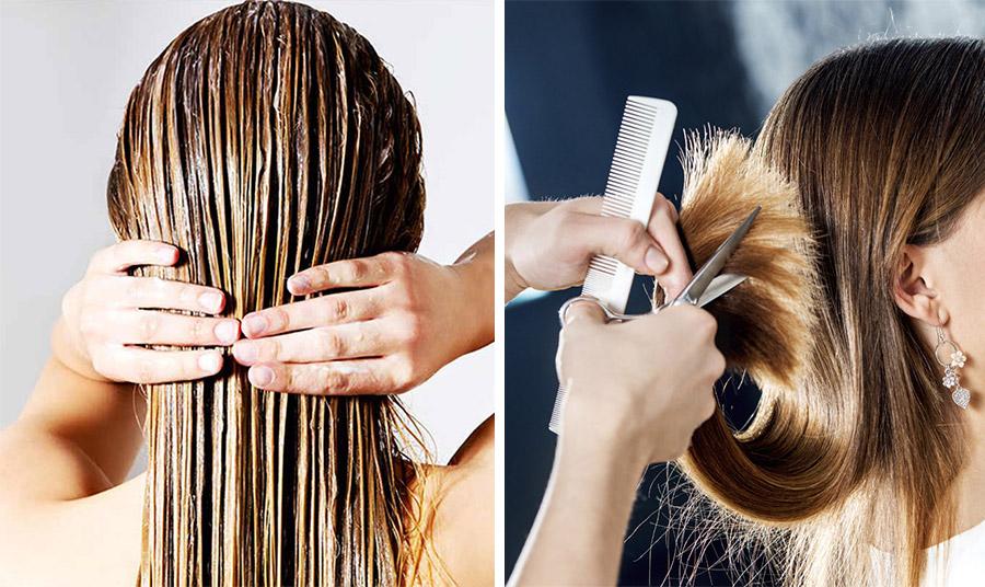 Πείτε ναι στις μάσκες μαλλιών, στα ενυδατικά conditioner αλλά και στα έλαια για την περιποίησή τους // Αν η ψαλίδα έχει κάνει την εμφάνισή της, φροντίστε να κόβετε τις άκρες κάθε 4 εβδομάδες, ενώ για πρόληψη κάθε 6-8 εβδομάδες