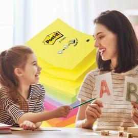 Σίγουρα θυμάστε πόσο δύσκολο ήταν να μάθετε την προπαίδεια και την ορθογραφία. Κάντε τα μαθήματα παιχνίδι χωρίζοντας τους αριθμούς ή τις λέξεις σε πολλά διαφορετικά πολύχρωμα Post-it?