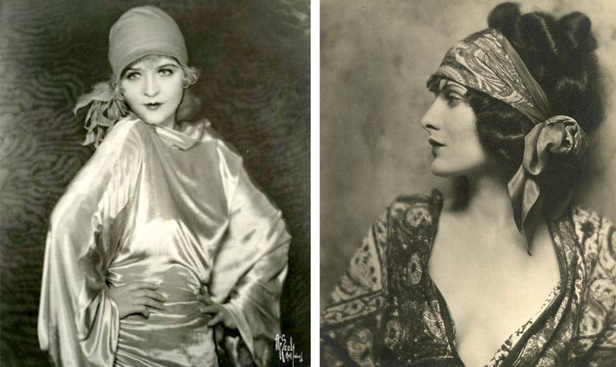 Στιλ και μποέμ κομψότητα για τα «ατίθασα κορίτσια» της δεκαετίας του 1920. Το μαντήλι στα μαλλιά έγινε σύμβολο της αίγλης και της ανατρεπτικότητας της εποχής