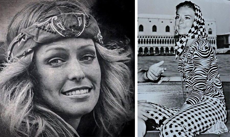 Η Φάρα Φώσετ αντικατοπτρίζει το επαναστατικό στιλ του '70 // Η Νάταλι Γουντ στη Βενετία ταιριάζει με μοναδικό στιλ τα διαφορετικά μοτίβα και ένα μαντήλι - σκακιέρα