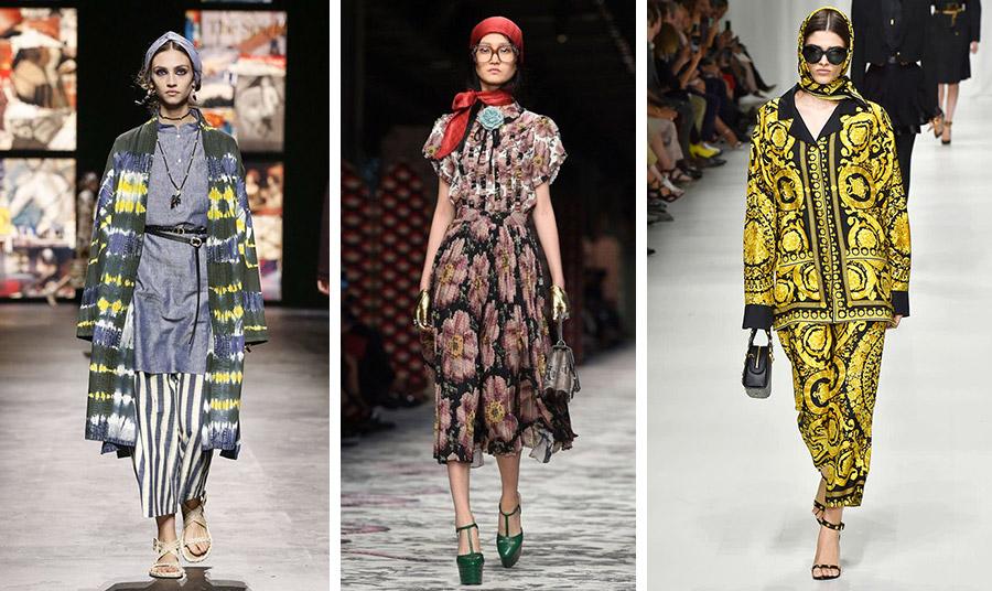 Οι πασαρέλες της άνοιξης έδωσαν το σύνθημα! Τα μαντήλια είναι μόδα: Dior // Gucci // Versace