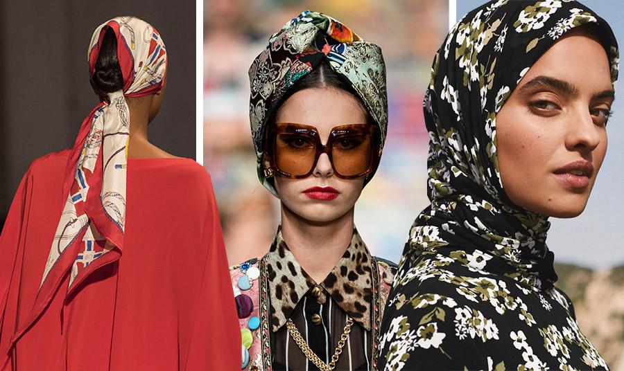 Σε διάφορα χρώματα και μοτίβα, αλλά και διαφορετικοί τρόποι δεσίματος από τις πασαρέλες της άνοιξης: Etro // Dolce&Gabbana // Michael Kors