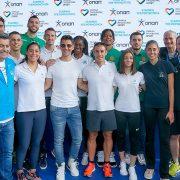 Η διοίκηση του ΟΠΑΠ με τον Σάκη Ρουβά, τους αθλητές της ΚΑΕ ΠΑΝΑΘΗΝΑΙΚΟΣ ΟΠΑΠ, τους αθλητές του ΠΑΝΑΘΗΝΑΙΚΟΥ Α.Ο. και τους OPAP Champions
