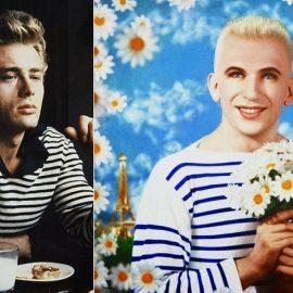 Ο Τζέιμς Ντιν υπέκυψε και αυτός στη γοητεία της // Πορτρέτο του Jean-Paul Gaultier από τους Pierre et Gilles (1990). © Pierre et Gilles/Rainer Torrado