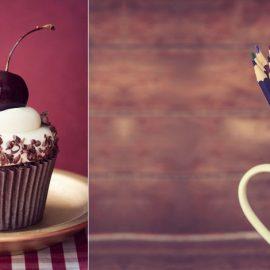 Έμπνευση από το χρώμα της χρονιάς για το cupcake με κεράσι του Ruth Black // Ή σαν φόντο από τον φωτογράφο Masson