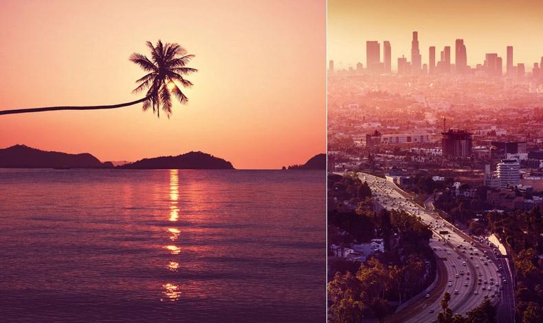Ο φωτογραφικός φακός εμπνέεται από το χρώμα της χρονιάς για μία τροπική παραλία ή για τους ουρανοξύστες του Λος Άντζελες
