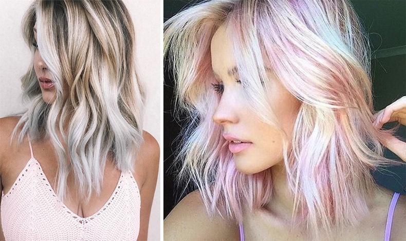 Μπορούμε να προσθέσουμε σε μερικές τούφες τα χρώματα του ουράνιου τόξου! Με ένα ημιμόνιμο σπρέι βαφής έχουμε τη δυνατότητα να δώσουμε στο χρώμα των μαλλιών μας μια πνοή γαλάζιου, μοβ ή baby ροζ!