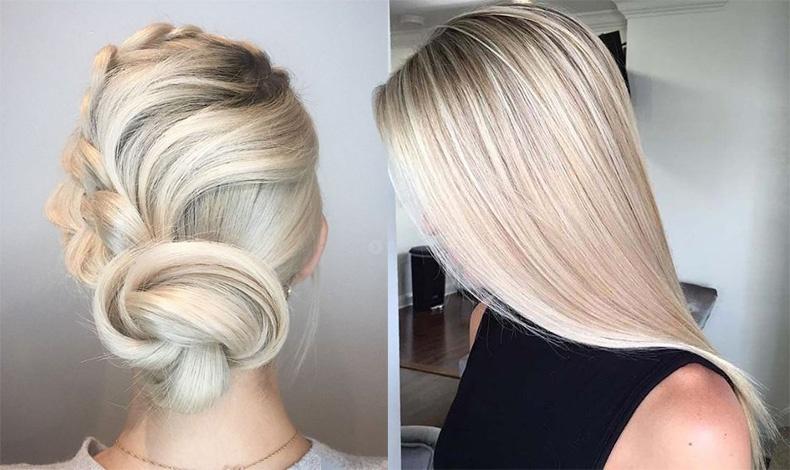 Οι αποχρώσεις του ξανθού-λευκού δείχνουν τέλειες είτε σε πιασμένα σε κότσο μαλλιά είτε ίσια μακριά