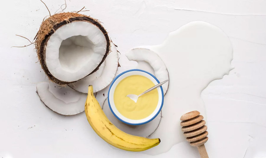 Μάσκα μαλλιών με μπανάνα