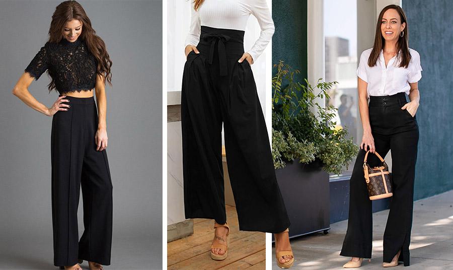 Τα ψηλόμεσα παντελόνια κολακεύουν όλες τις γυναίκες. Συνδυάστε το μαύρο παντελόνι σας με ένα crop top, με ένα λεπτό ριμπ πουλοβεράκι ή με ένα κλασικό λευκό πουκάμισο