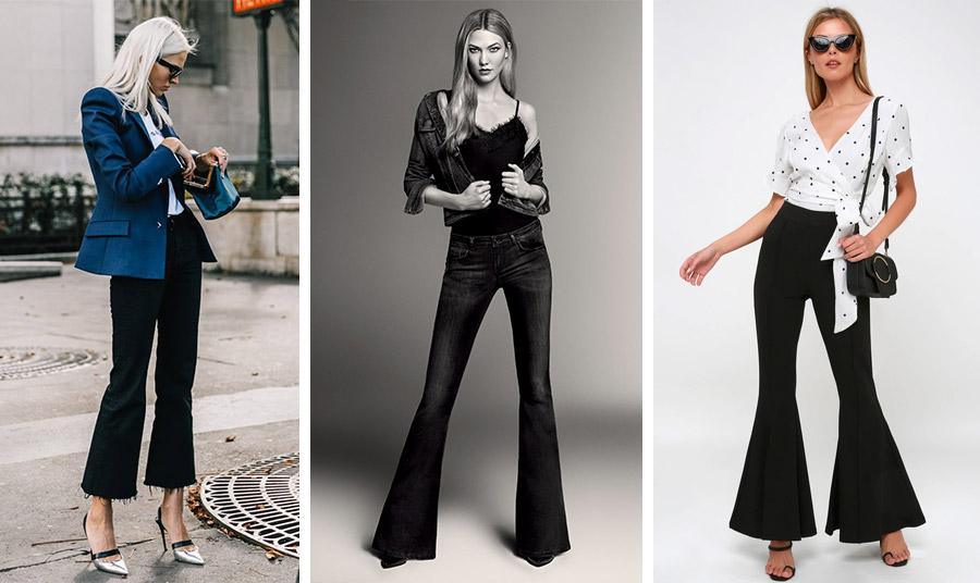 Παντελόνι καμπάνα είναι η τελευταία λέξη της μόδας. Με κοντό σακάκι, με ένα σέξι τοπ και τζιν ή με ένα θηλυκό πουά πουκάμισο δημιουργεί την τέλεια ανοιξιάτικη εμφάνιση ανάλογα με το στιλ σας
