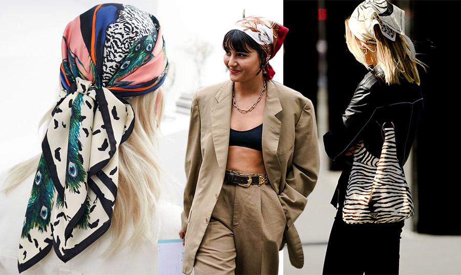 Ο πιο μοντέρνος τρόπος για να φορέσετε μπαντάνα είναι σε όλο το κεφάλι και μάλιστα δεμένο σε τρίγωνο