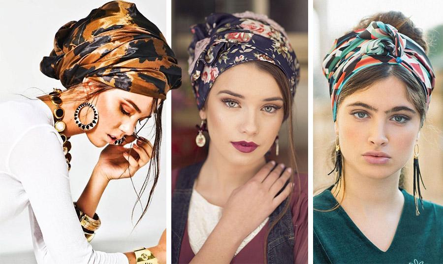 Πολύ στη μόδα είναι να δέσετε ένα υπέροχο μεταξωτό μαντίλι και να αφήσετε μικρές τούφες από τα μαλλιά σας