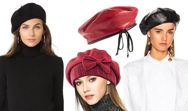 Mπερές από κλασικό μάλλινο ύφασμα, από δέρμα ή από βελούδο και πλεκτό, οι εκδοχές της μόδας είναι πολλές// Κόκκινος δερμάτινος μπερές του Dior που έχει γίνει εμβληματικός για τον οίκο