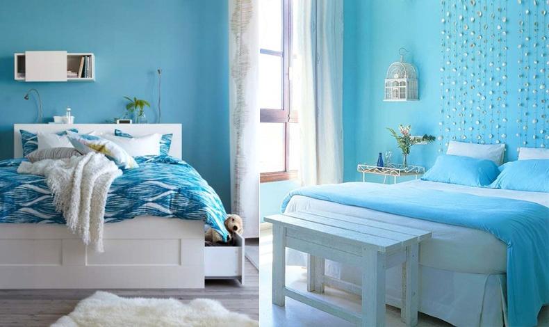 Η χαλαρωτική επίδραση και η δροσερή και ανάλαφρη αίσθηση του γαλάζιου το κάνει τέλειο για το υπνοδωμάτιο