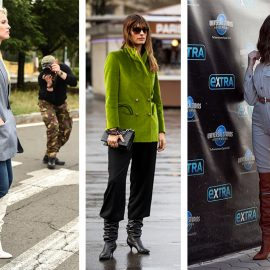 Φορέστε τις μπότες μέχρι το γόνατο πάνω από το τζιν παντελόνι σας ή μία φόρμα ή με φαρδιά παντελόνια
