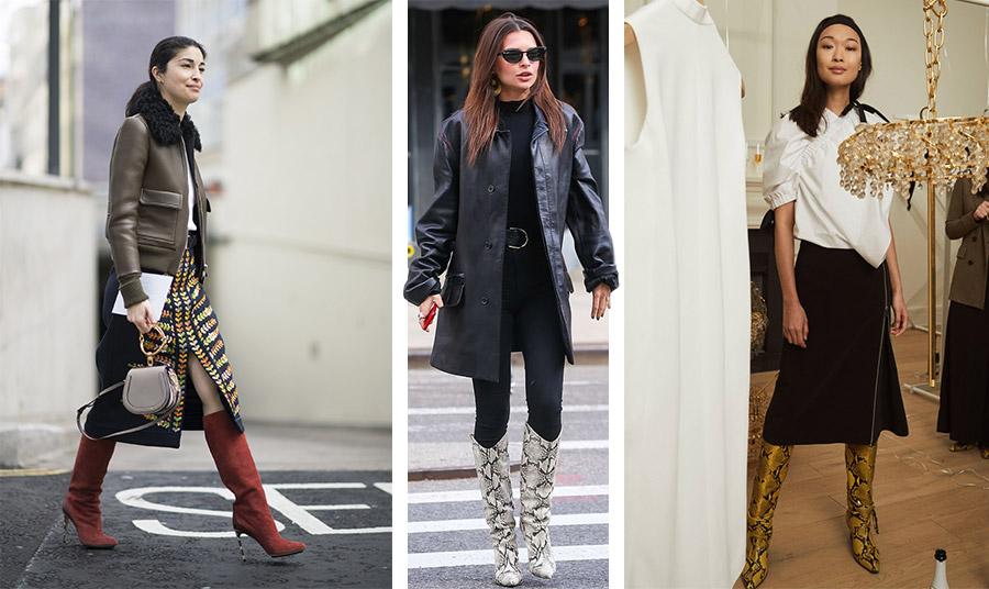 Οι μπότες μέχρι το γόνατο είναι η τελευταία λέξη της μόδας. Αν είναι μάλιστα με χρώμα ή με φίδι ακόμη καλύτερα!