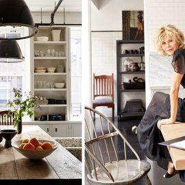 Η Μεγκ Ράιαν στην κουζίνα του σπιτιού της στο Σόχο