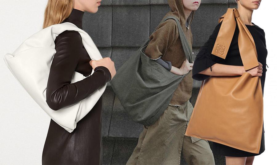 Τόσα διαφορετικά σχήματα και τόσο διαφορετικά στιλ! Φορέστε την με τα δερμάτινά σας! Λευκή τσάντα, Bottega Veneta // Για τελείως casual ρούχα και τελικό αποτέλεσμα // Επιλέξτε μία με εντυπωσιακό φιόγκο πάνω στον ώμο που σίγουρα θα κλέψει τις εντυπώσεις και ένα μίνι μαύρο φόρεμα, όπως της Loewe