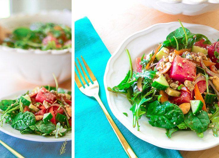 Καλοκαιρινή μεσογειακή σαλάτα