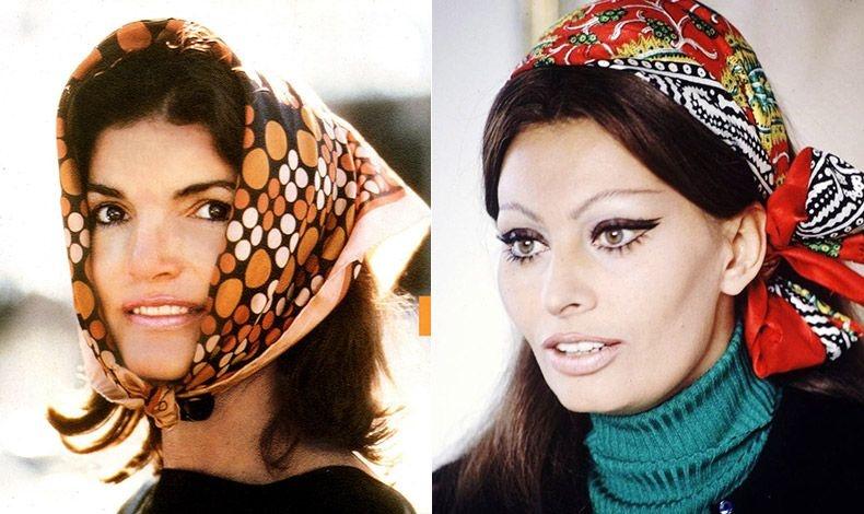 Η Τζάκι Κένεντι ήταν γνωστή για τη μεγάλη συλλογή της από φουλάρια // Και η Σοφία Λόρεν είχε υποκύψει στη γοητεία τους...