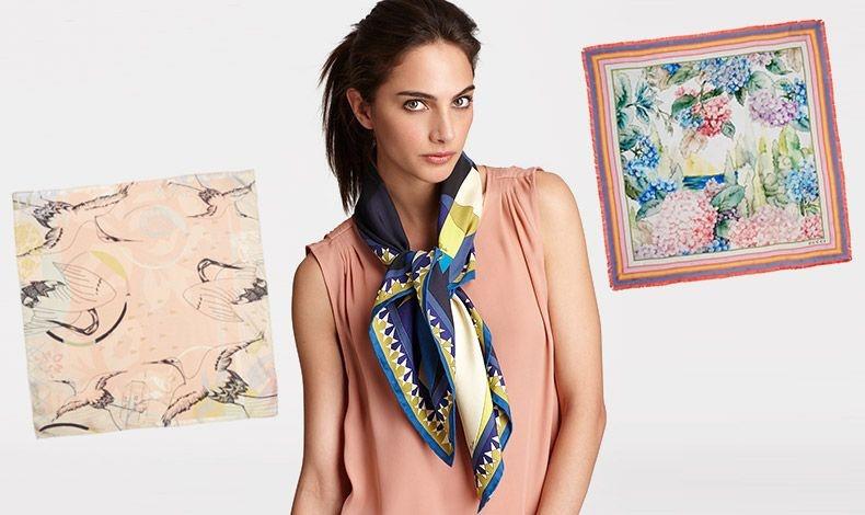 Σε παστέλ χρώματα με εντυπωσιακά πουλιά, Heti's Colours // Φουλάρι κλασικά δεμένο στον λαιμό με αμάνικο φόρεμα // Παστέλ λουλούδια, Gucci