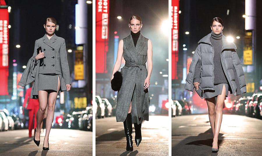 Γκρι σε διάφορες εκδοχές, που αν και οι σούπερ μίνι φούστες με το βαθύ άνοιγμα εντυπωσιάζουν, σίγουρα το κομψότατο μίντι φόρεμα με το ζιβάγκο και τις μαύρες μπότες δίνει μαθήματα στιλ!